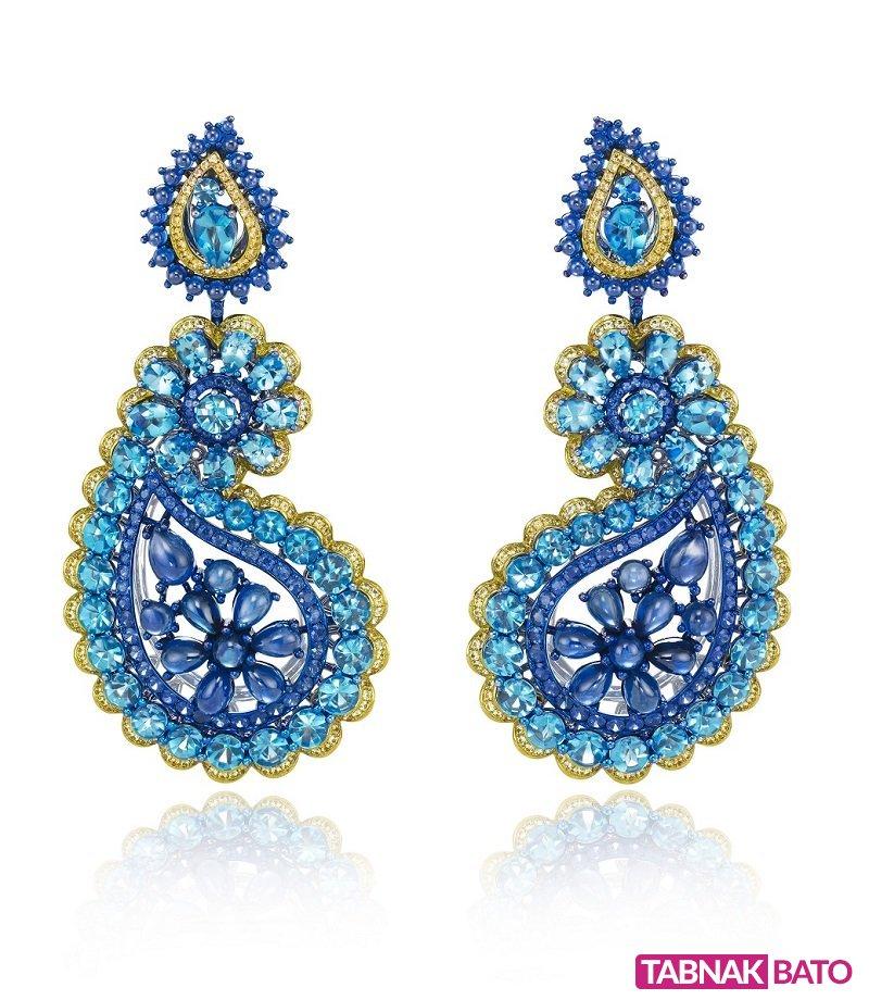 جواهراتی چشمنواز با سنگهای قیمتی رنگارنگ