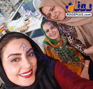 خوشحالی «نیلوفر شهیدی» از داشتن دو مادر+عکس