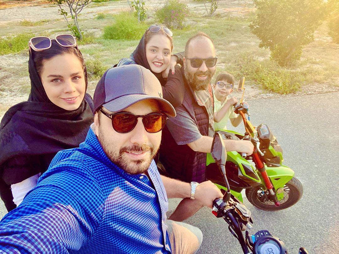 خوش گذرانیهای احسان خواجهامیری و زوج هنرمند +عکس