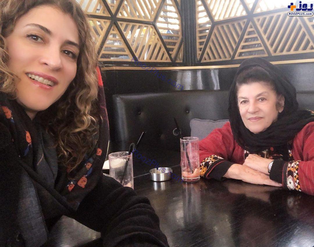 کافی شاپ گردی ویشکا آسایش با مادرش+عکس