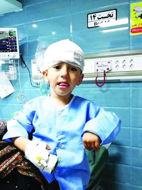 زنده ماندن بچه ٢ ساله که تیر به مغزش شلیک شد+عکس