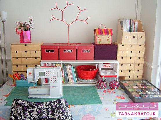 چگونه یک اتاق خیاطی جمعوجور داشته باشیم؟