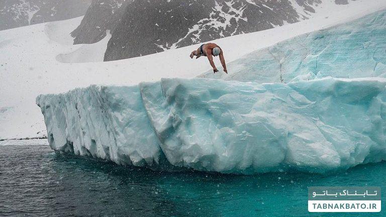 ۳۳ سال تمرین برای ۸ دقیقه شنا در قطب جنوب