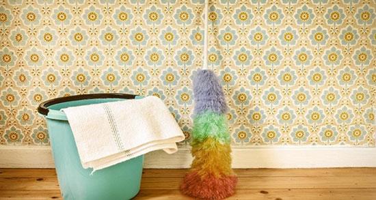 روشهای ساده و کاربردی برای تمیز کردن کاغذ دیواری