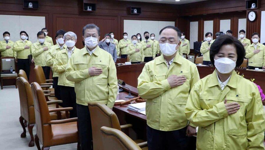 کابینه ضد کرونای کره جنوبی +عکس