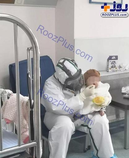 بهبودی حال کودک ۷ ماهه مبتلا به کرونا +عکس