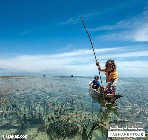 مردمی که مثل ماهی زیر آب زندگی میکنند!