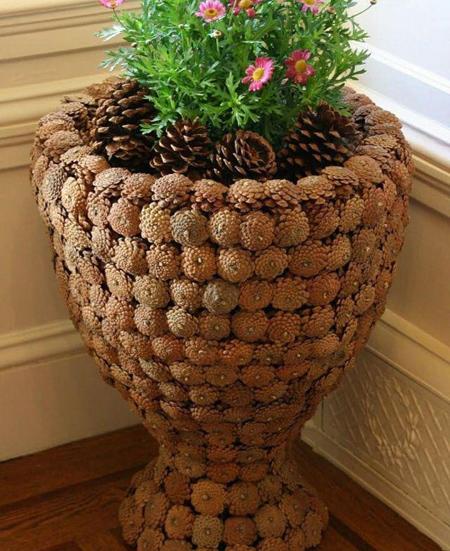 ایده هایی برای تزیین گلدان