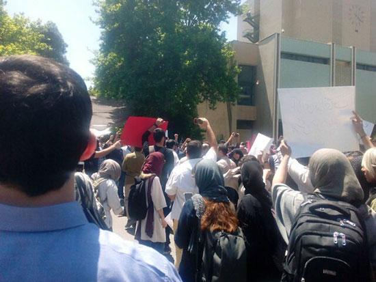 تجمع دانشجویان در دانشگاه تهران+عکس