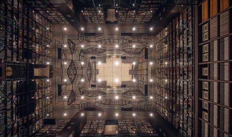 معماری عجیب یک کتابفروشی در چین + تصاویر