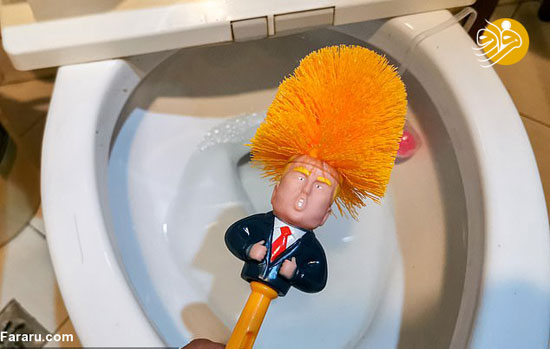 تولید فرچه توالت با شکل ترامپ+عکس
