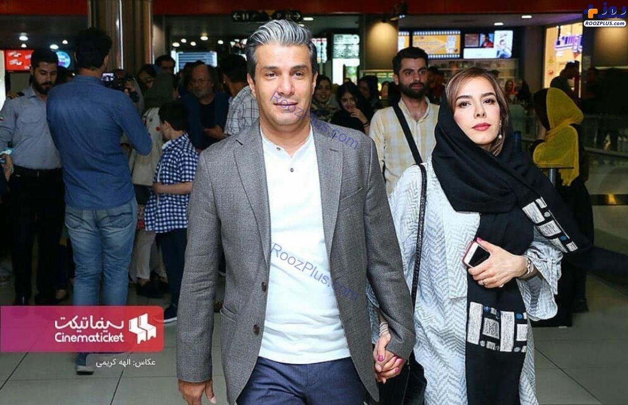 آریا عظیمی نژاد و همسرش در اکران مردمی فیلم خانه دیگری +عکس