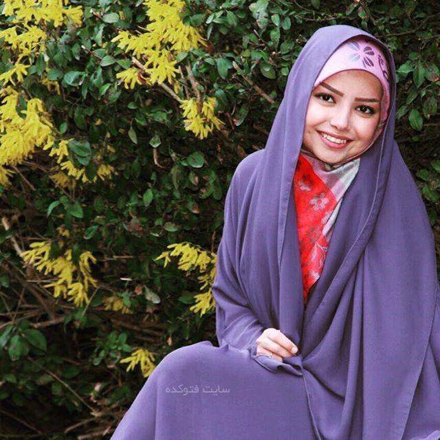 مراسم عقد خانم مجری در امام زاده صالح +عکس