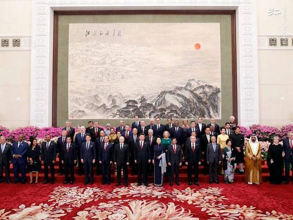 عکس یادگاری سران کشورهای جهان در چین