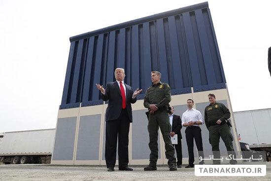 رنگ پیشنهادی ترامپ برای دیوار مرزی بین آمریکا و مکزیک