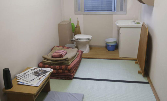 تصویری از یک سلول زندان در توکیو