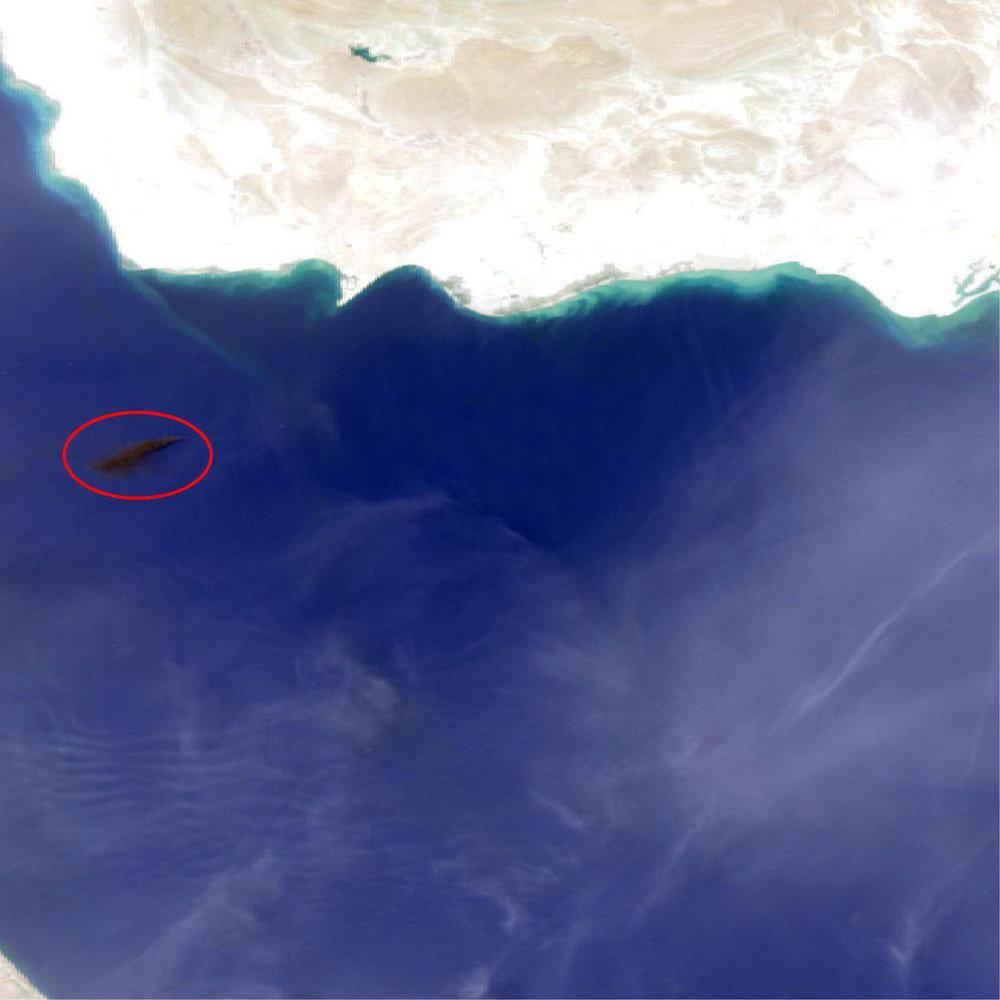 تصویر ماهوارهای از سوختن کشتی فرانت آلتیر