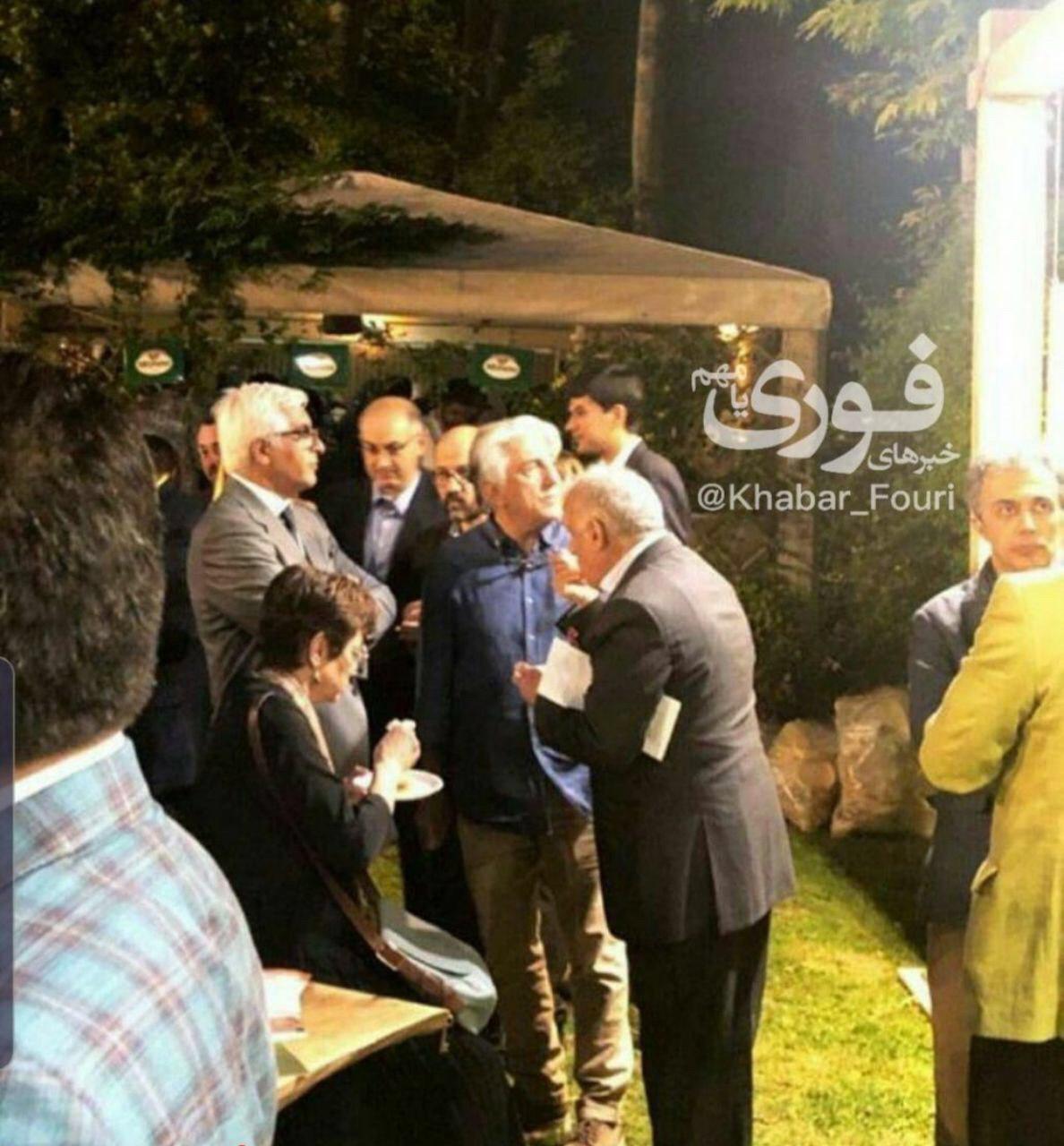 حضور جنجالی رضا کیانیان در مهمانی سفارت ایتالیا+عکس