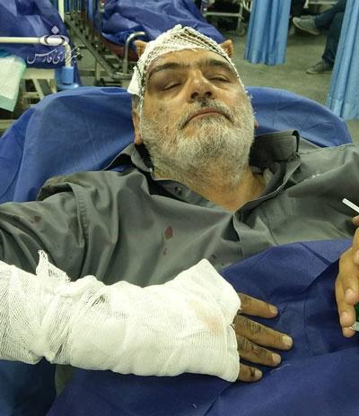 حسین اللهکرم دچار سانحه شد+عکس