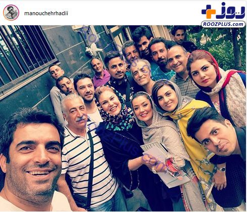 مهرانه مهین ترابی در پشت صحنه سریال دل/عکس