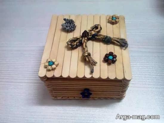 ساخت جعبه با چوب بستنی با روش های جالب و دوست داشتنی