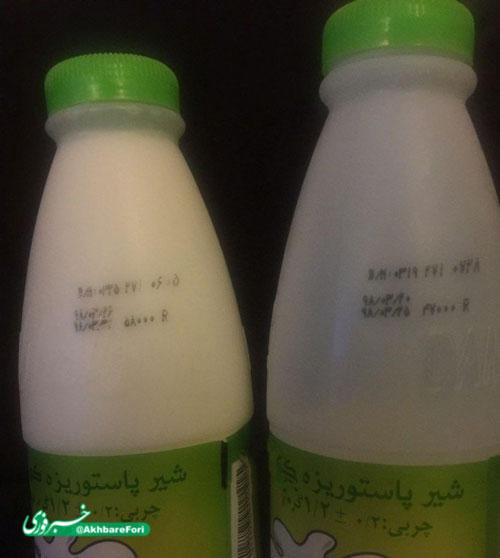 شیر یک روزه ۱۱۰۰تومان گران شد+عکس