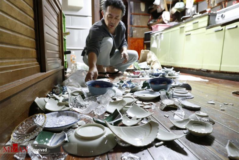 خسارات زلزله ۶.۸ ریشتری در ژاپن +عکس