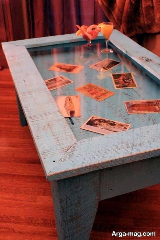 تزیین زیر شیشه میز و جلو مبلی با خلاقیت های جذاب