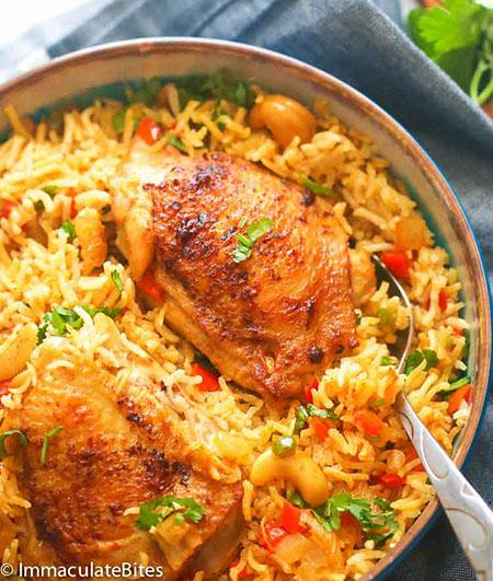 بریانی مرغ و سبزیجات؛ سفری به هندوستان