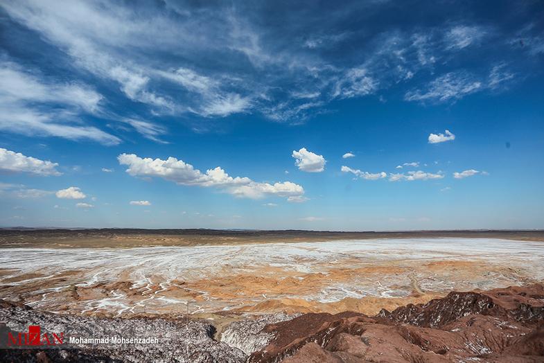 کوه نمک قم +عکس