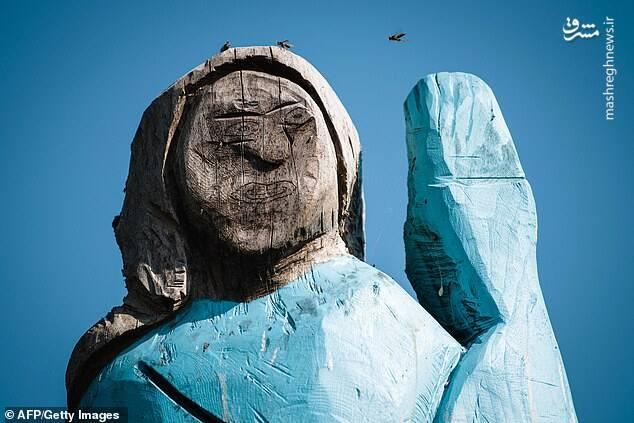 مجسمه ترسناک ملانیا ترامپ+عکس