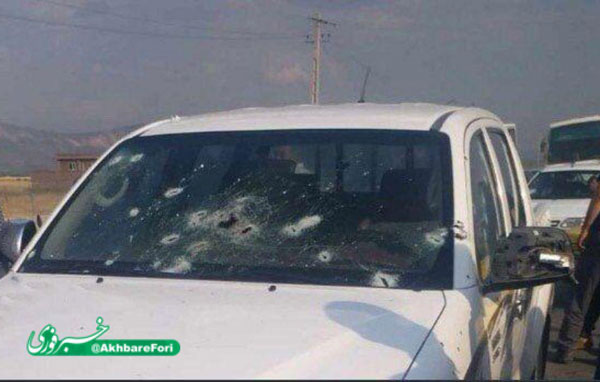 تصویری از خودروی پاسداران در حادثه پیرانشهر