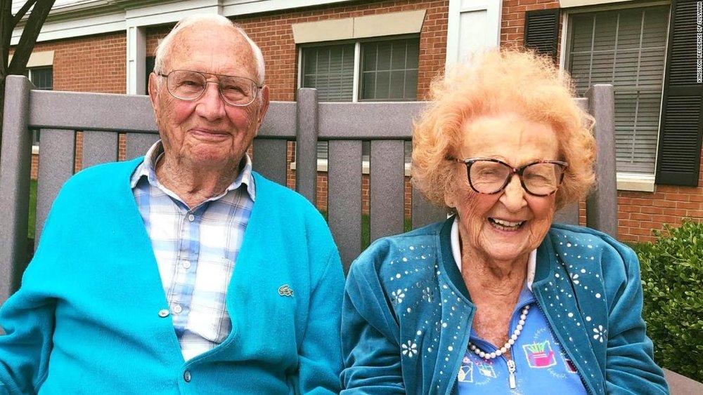 زن و مردی که در ۱۰۰ سالگی ازدواج کردند+عکس