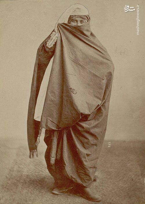 حجاب بانوی طهرانی در زمان قاجار +عکس