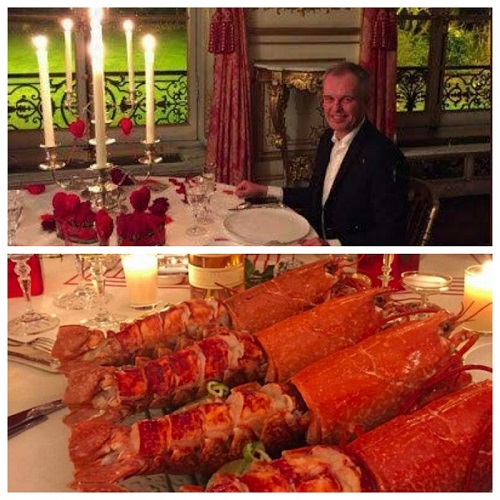 غذای اشرافی، کار دستِ وزیر فرانسوی داد +عکس