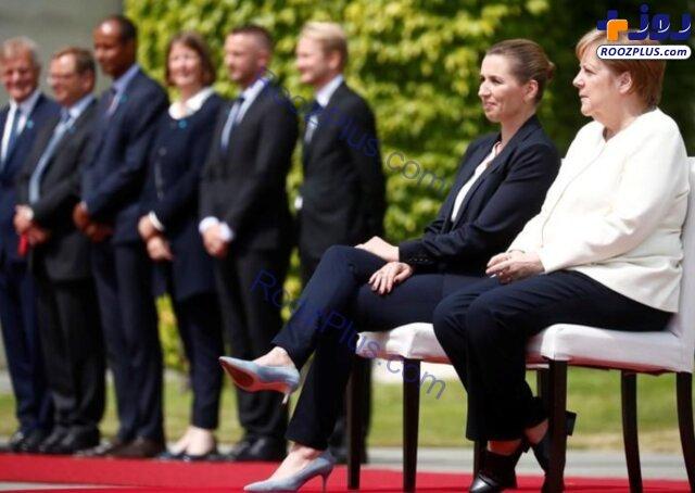 استقبال متفاوت مرکل از نخست وزیر دانمارک +عکس