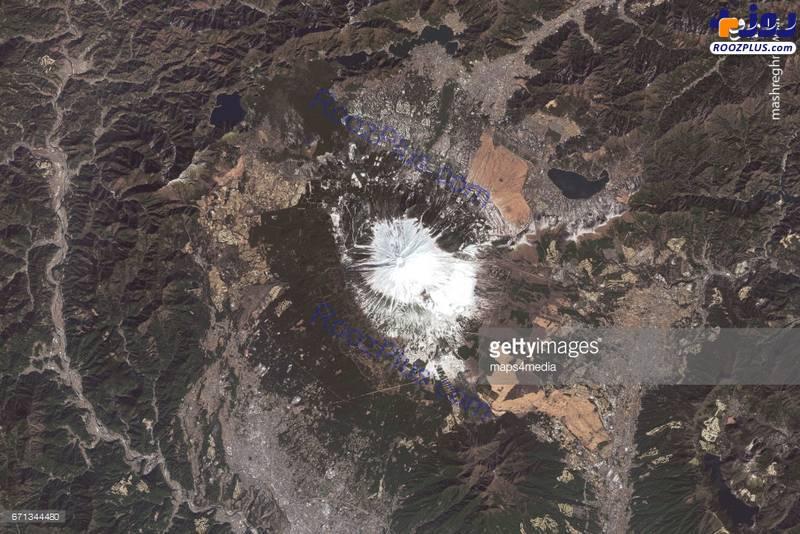 عکس ماهوارهای از کوه فوجی