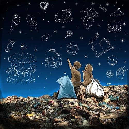 آرزوها در میان زبالهها+عکس