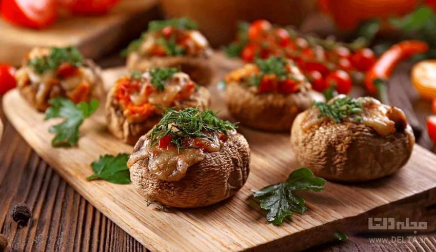 طرز تهیه انواع قارچ شکم پر