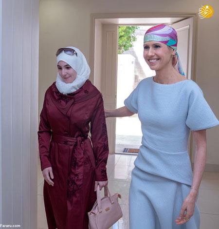 اسماء اسد یک سال پس از ابتلا به سرطان سینه +عکس