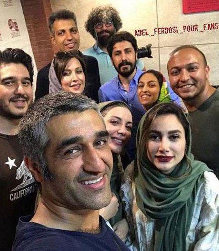 عادل فردوسیپور در پشت صحنه یک تئاتر+عکس