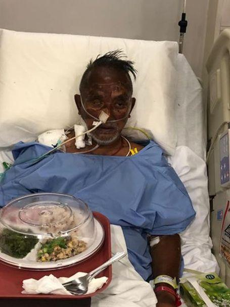 مردی که چهار روز بدون آب و غذا زنده ماند +عکس