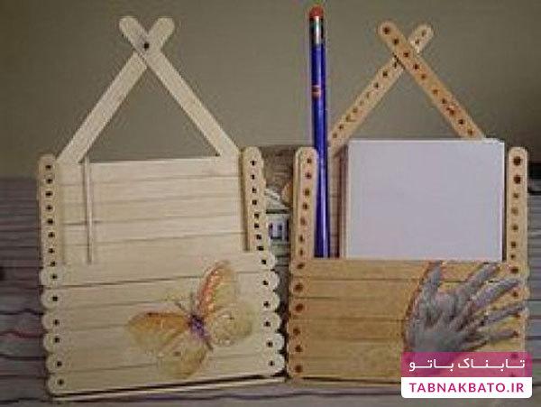 تصاویر: کاردستیهای خلاقانه با چوب بستنی