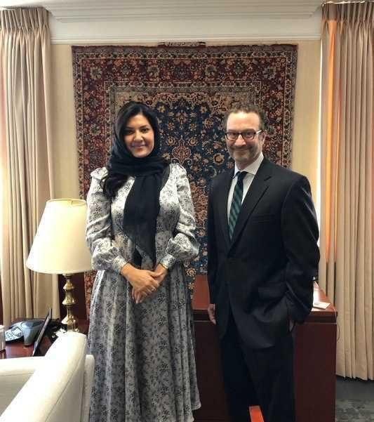 خودنمایی فرش ایرانی در دیدار دیپلماتهای آمریکا و عربستان + عکس