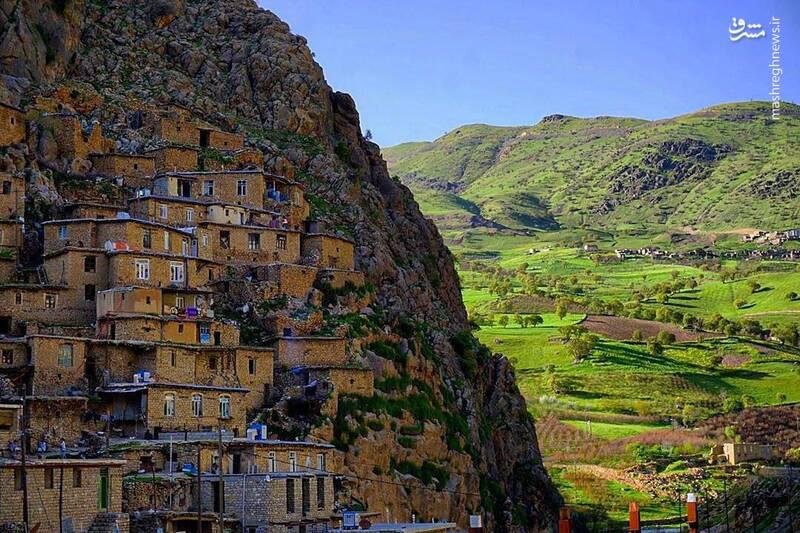 روستایی زیبا در کردستان+عکس