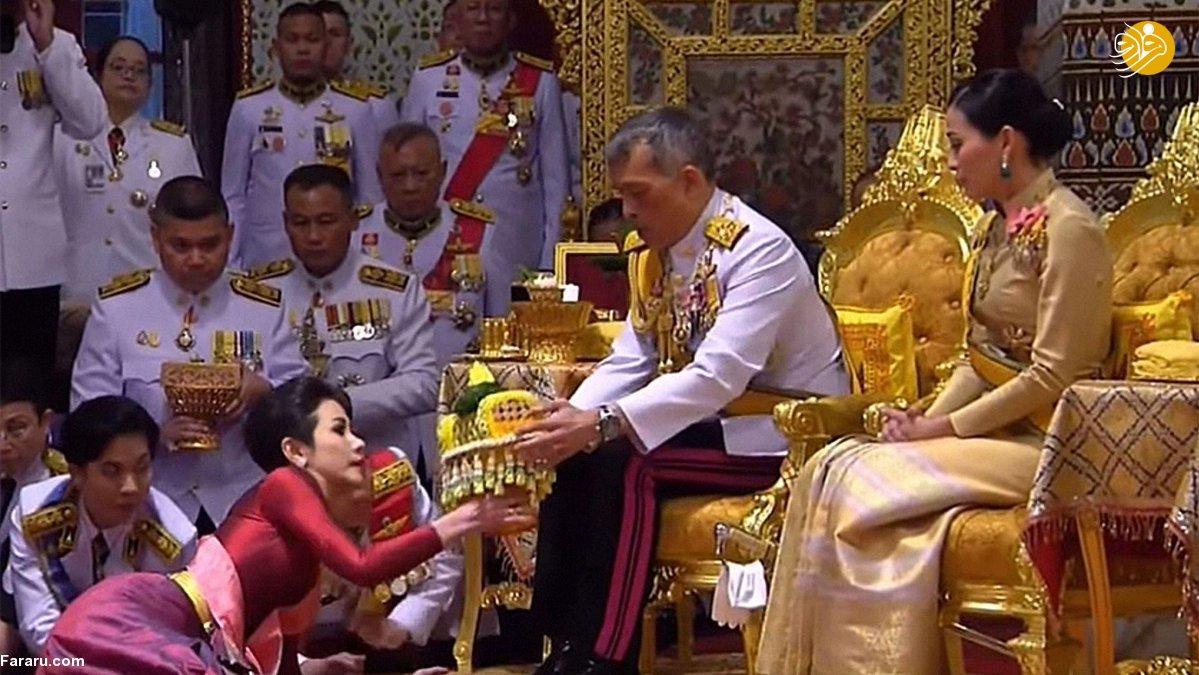 ازدواج دوم پادشاه تایلند در حضور زن اولش+ عکس