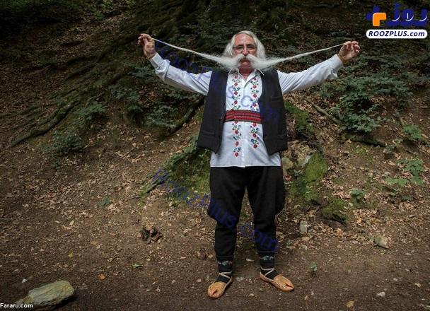 پیرمردی که بلندترین سبیل را در جهان دارد+عکس
