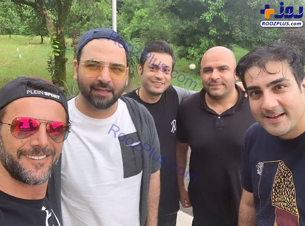 امین حیایی و احسان علیخانی با تیپ کمتر دیده شده