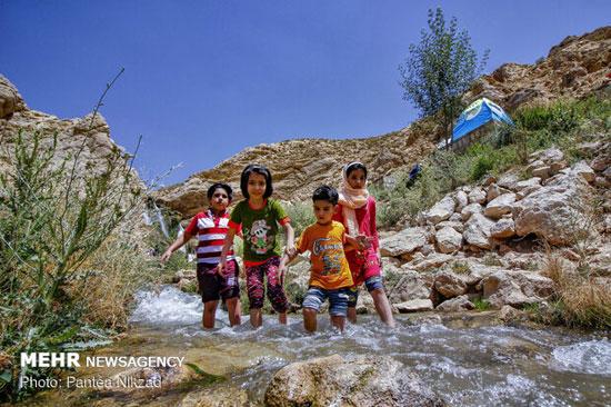 تفریح تابستانی در آبشار شیخ علیخان