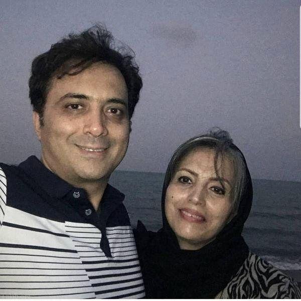 مجید اخشابی در کنار خواهرش+عکس